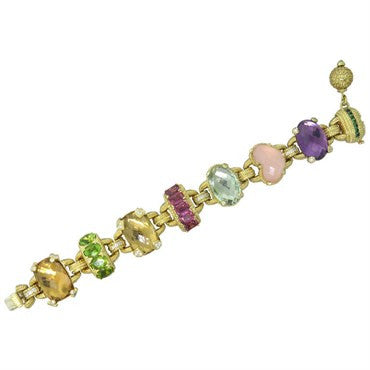 image of Judith Ripka Ambrosia Gemstone Diamond Gold Bracelet