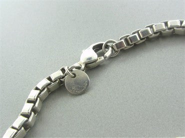 thumbnail image of Estate Tiffany & Co Sterling Silver Venetian Link Necklace
