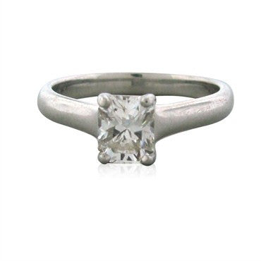 image of Tiffany & Co Lucida Platinum 1.11ct H VVS2 Diamond Engagement Ring