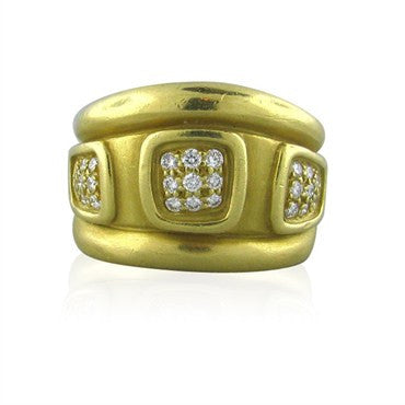 thumbnail image of Kieselstein Cord Windows 18K Gold Diamond Ring
