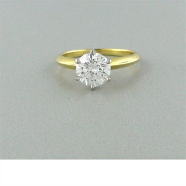 image of Tiffany & Co 18k Gold 1.61ct Diamond Engagement Ring
