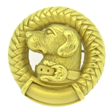 image of Barry Kieselstein Cord Labrador Dog 18k Gold Brooch Pin