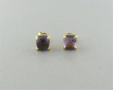 thumbnail image of Tiffany & Co Paloma Picasso Sugar Stacks Amethyst 18K Gold Earrings