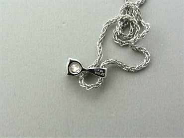 image of New Hearts On Fire Three Prong Platinum Diamond Pendant Necklace