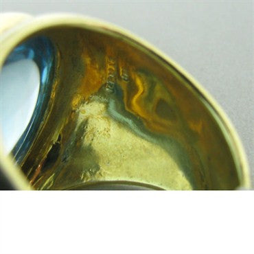 thumbnail image of New Faraone Mennella Blue Topaz 18k Gold Ring
