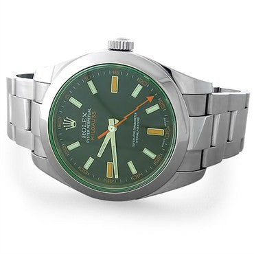 image of Rolex Milgauss Green Automatic Mens Watch 116400V