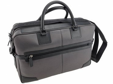 image of ST Dupont Black & Grey Defi Laptop Bag 078002