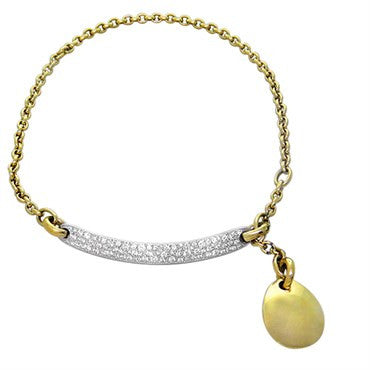 New Pomellato 18k Gold 3.80ctw Diamond Charm Necklace