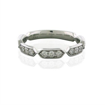 image of New Hearts On Fire Perfectly Bridal 18K White Gold Diamond Band Ring