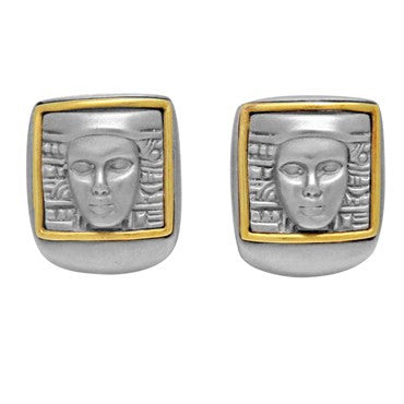 image of Kieselstein Cord Women of the World 18k Gold Artsteel Earrings