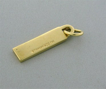 image of Estate Tiffany & Co 18k Gold Worth Ave Charm Pendant