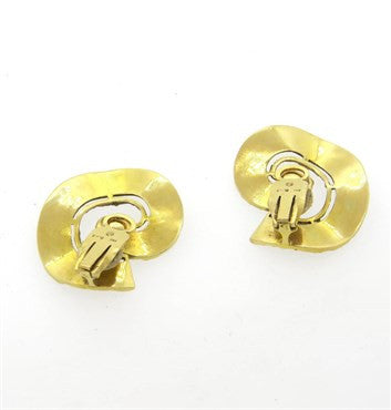 thumbnail image of Large 1970s Ilias Lalaounis 18k Gold Swirl Earrings