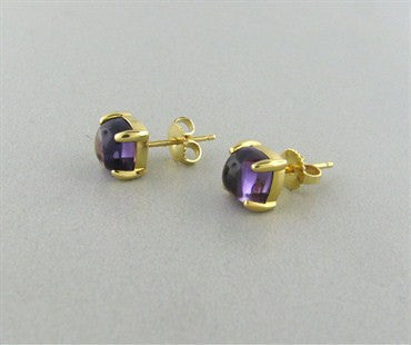 image of Tiffany & Co Paloma Picasso Sugar Stacks Amethyst 18K Gold Earrings