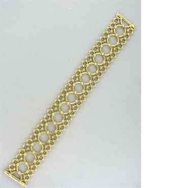 image of Tiffany & Co Vintage 18k Yellow Gold Bracelet 47.6g