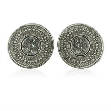 thumbnail image of New Carrera Y Carrera 18K White Gold Ruedo Diamond Earrings