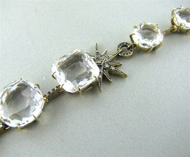 image of H.Stern 18K Gold Moonlight Crystal Quartz Diamond Necklace