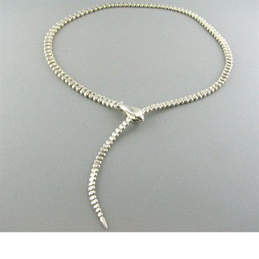 thumbnail image of Tiffany & Co Elsa Peretti Snake Sterling Necklace