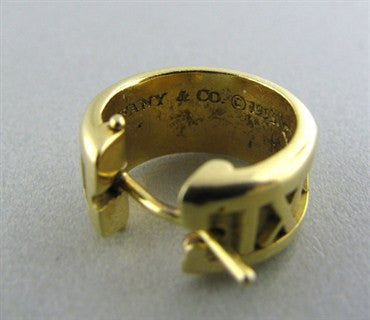 thumbnail image of Tiffany & Co 18K Gold Atlas Huggies Earrings
