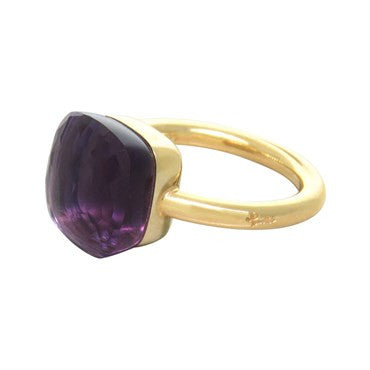 thumbnail image of New Pomellato Nudo 18k Gold Amethyst Ring