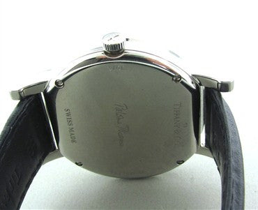 thumbnail image of Tiffany & Co Paloma Picasso Paloma X Stainless Steel Leather Watch