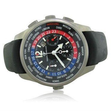 image of Girard Perregaux World Time Chronograph Titanium Mens Watch