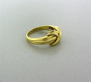 image of Estate Tiffany & Co 18K Yellow Gold Signature X Ring