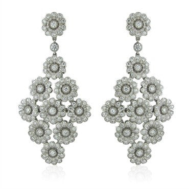 image of Tiffany & Co Platinum 3.05ctw Diamond Drop Earrings