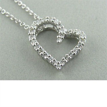 image of Hearts On Fire Amorous Small Heart Diamond Necklace