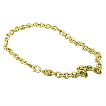 thumbnail image of Judith Ripka Diamond 18K Gold Chain Link Necklace