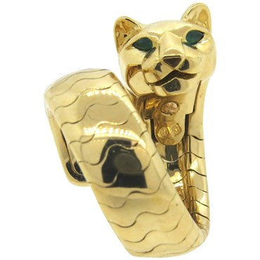 image of Cartier Panthere Onyx Emerald 18k Gold Ring