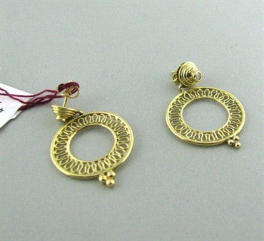 thumbnail image of New Temple St. Clair 18K Yellow Gold Smaller Round Diamond Earrings