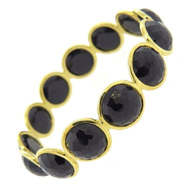 image of Ippolita Lollipop Onyx 18k Gold Bangle Bracelet