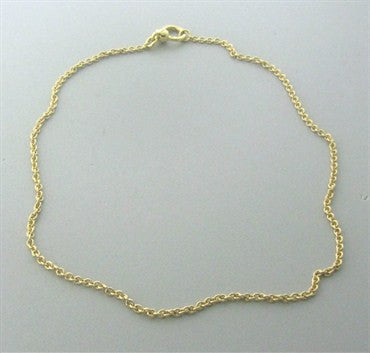thumbnail image of Pomellato 18K Gold Chain 2.7mm Necklace 16.5 Inches Long