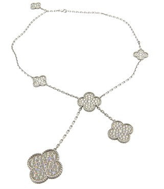 thumbnail image of Van Cleef & Arpels Magic Alhambra 18K Gold Six Motif Diamond Necklace