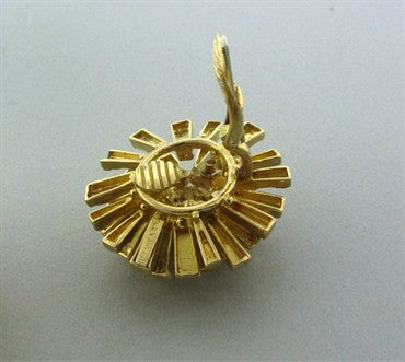 thumbnail image of Funky 1970s Vintage Tiffany 18K Gold Brooch Pendant Earrings Set