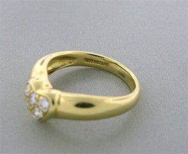 thumbnail image of Tiffany & Co 18k Yellow Gold Diamond Heart Ring