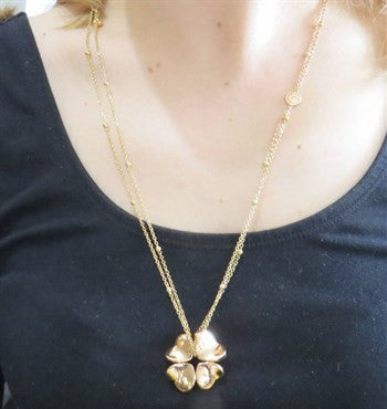 thumbnail image of Pasquale Bruni 4Love Ruby 18k Gold Clover Pendant Necklace