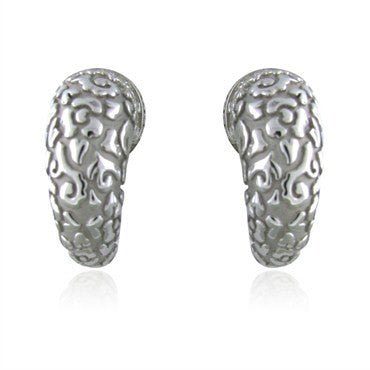 image of Carrera Y Carrera Ava 18K White Gold Diamond Earrings
