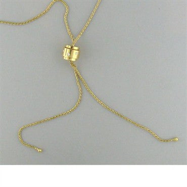image of Estate Piaget 18k Gold Diamond Bolo Slide Necklace
