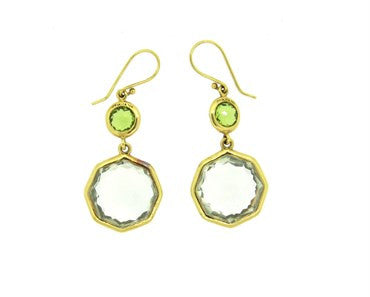 image of Ippolita 18k Gold Rock Candy Gemstone Drop Earrings