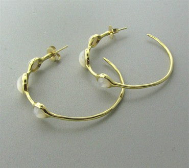 thumbnail image of Ippolita 18K Gold Mother Of Pearl Hoop Earrings