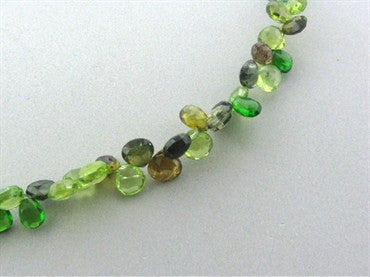 thumbnail image of Robin Rotenier 18K Yellow Gold Multi Color Gemstone Briolette Necklace