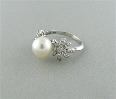 thumbnail image of Tiffany & Co Fireworks Platinum Pearl Diamond Ring
