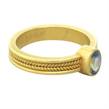 image of Reinstein Ross 20k Gold Sapphire Ring