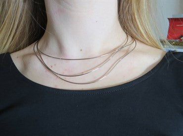 image of Tiffany & Co. Elsa Peretti 18k White Gold Wave Necklace