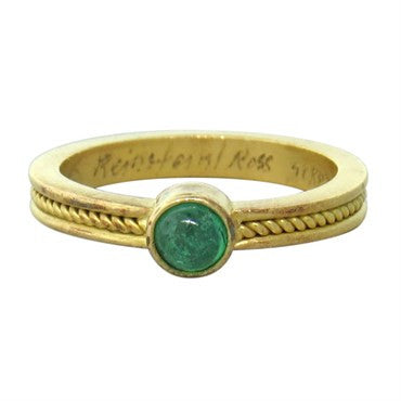 thumbnail image of Reinstein Ross 20k Gold Emerald Cabochon Ring