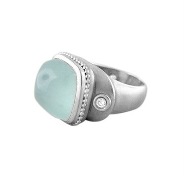 thumbnail image of Seidengang Athena 18K White Gold Blue Gemstone Diamond Ring