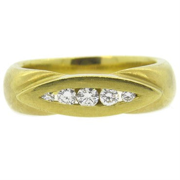 image of Elizabeth Rand Gold Diamond Ring