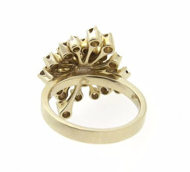 thumbnail image of H. Stern 18K Gold 1.10ctw Fancy Diamond Cluster Ring