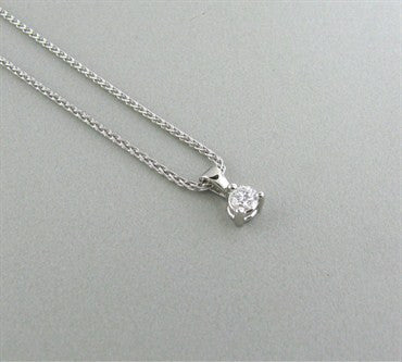 image of Hearts On Fire Three Prong Solitaire Platinum Diamond Pendant Necklace